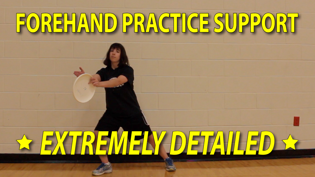 frisbee forehand practice support #1 thumbnail