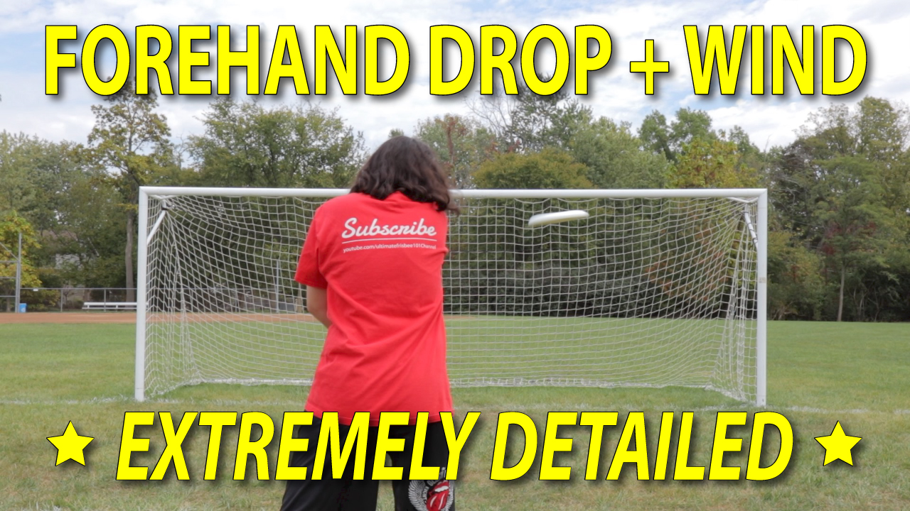 ultimate frisbee forehand drop thumbnail